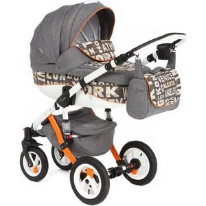 Коляска 3 в 1 Adamex Barletta, (серый + принт CITY GRAY) (GL000346685) adamex коляска 2 в 1 barletta adamex лисёнок белый оранжевый