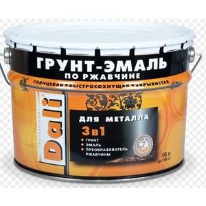 Грунт-эмаль по ржавчине РОГНЕДА DALI 3-в-1 красно-коричневая 10л. грунт эмаль по ржавчине рогнеда dali 3 в 1 черная 10л