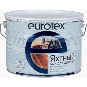 Лак яхтный РОГНЕДА EUROTEX глянцевый 10л.