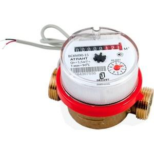 Счетчик воды ДЕКАСТ бытовой ВСКМ-15 ДГ (110 мм, кмч с ОК) promotion 6pcs option 100