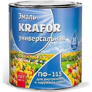 Эмаль универсальная KRAFOR ПФ-115 бежевая 20кг. эмаль пф 115 цвет кофе с молоком а пензе