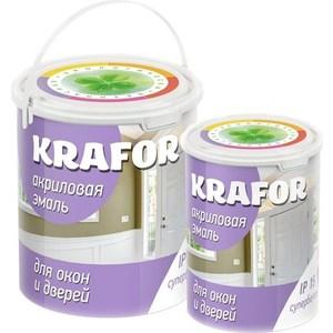 Эмаль KRAFOR акрил. для окон и дверей супербелая 3кг.