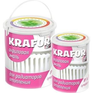 Эмаль для радиаторов KRAFOR акрил. супербелая 3кг.
