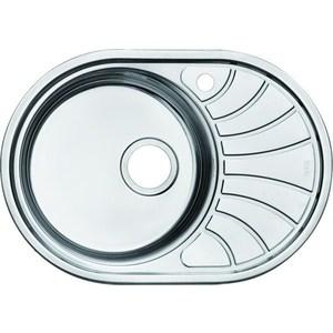 Кухонная мойка IDDIS Suno 460x650 шелк (SUN65SLi77) мойка для кухни нержавеющая сталь шелк чаша слева iddis suno sun65sli77