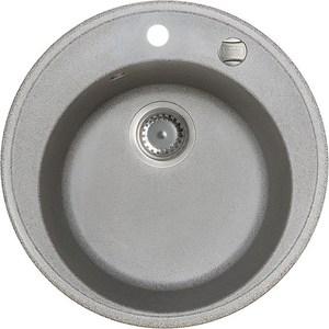 Кухонная мойка IDDIS Kitchen G 510x510 серый (K02G511i87) chrome kitchen sink faucet solid brass spring two spouts deck mount kitchen mixer tap
