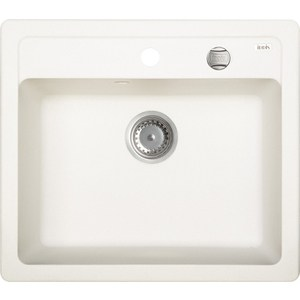 Кухонная мойка IDDIS Vane G 500x570 белый (V05W571i87) мойка iddis vane g granucryl 2 чаши цвет песочный 78 х 50 см v23p782i87
