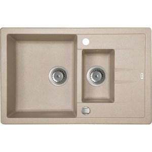 Кухонная мойка IDDIS Vane G 500x780 песок (V18P785i87) мойка iddis vane g granucryl 2 чаши цвет песочный 78 х 50 см v23p782i87
