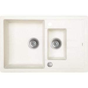 Кухонная мойка IDDIS Vane G 500x780 белый (V20W785i87) мойка iddis vane g granucryl 2 чаши цвет песочный 78 х 50 см v23p782i87