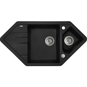 Кухонная мойка IDDIS Vane G 500x960 черный (V26B965i87) мойка iddis vane g granucryl 2 чаши цвет песочный 78 х 50 см v23p782i87