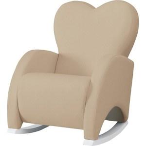 Фотография товара кресло-качалка Micuna Wing/Love white/beige искусственная кожа (Э0000017781) (735781)