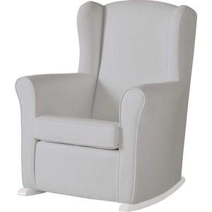 Фотография товара кресло-качалка Micuna Wing/Nanny white/grey искусственная кожа (Э0000015026) (735790)