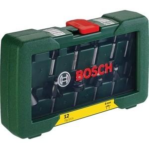 Фото - Комплект фрез Bosch 12шт (2.607.019.466) аксессуар mobiledata hdmi 4k v 2 0 плоский 1 8m hdmi 2 0 fn 1 8