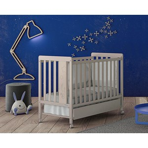 Кровать Micuna Rabbit 120*60 sand с матрацем CH-620 (Э0000017825) матрас micuna 120 60 pack 1 units ch 620 полиуретан