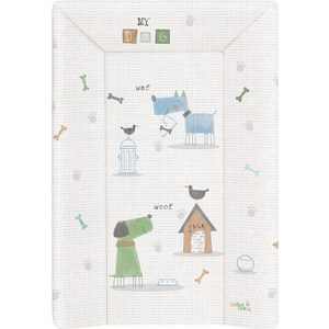 Матрац пеленальный Ceba Baby 70 см с изголовьем на кровать 120*60 см My Dog blue green W-201-073-003 (Э0000016389) big lovey lying white dog toy huge plush blue cloth dog doll gift about 120cm