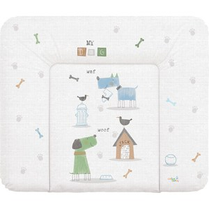 Матрац пеленальный Ceba Baby 70*85 см мягкий на комод My Dog blue green W-134-073-003 (Э0000016399) big lovey lying white dog toy huge plush blue cloth dog doll gift about 120cm