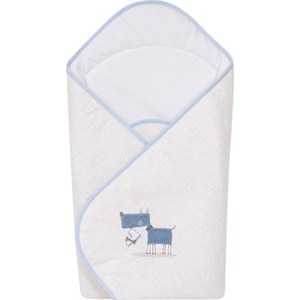 Одеяло-конверт Ceba Baby My Dog blue green вышивка W-810-073-003 (Э0000016394) big lovey lying white dog toy huge plush blue cloth dog doll gift about 120cm