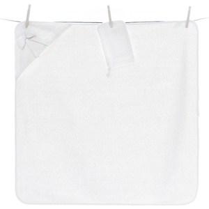 Полотенце-уголок Funnababy Premium Baby 90*90см + варежка белый (Э0000015994) полотенце уголок funnababy pretty 90 90см варежка э0000014298