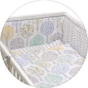 Постельное белье Ceba Baby 3 пр. Magic Tree blue Lux принт W-800-072-160-1 (Э0000016405) одеяло конверт ceba baby magic tree blue принт w 810 072 160 э0000016393