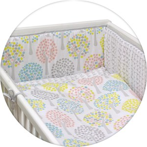 Постельное белье Ceba Baby 3 пр. Magic Tree pink Lux принт W-800-072-130-1 (Э0000016404) одеяло конверт ceba baby magic tree blue принт w 810 072 160 э0000016393