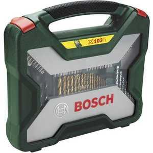Набор бит и сверл Bosch 103шт X-Line (2.607.019.331) пилки для лобзика по металлу для прямых пропилов bosch t118a 1 3 мм 5 шт