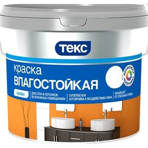 Краска в/д ТЕКС ПРОФИ влагостойкая супербелая 1.8 л пена монтажная профи всесезонная makroflex 750мл