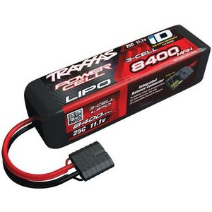 Аккумулятор TRAXXAS Li-Po 11.1В 8400мАч 3 Cell 25C Battery (iD Plug) best battery brand free shipping 3 7v 4000mah polymer lithium ion battery li ion battery for tablet pc 7 inch mp3 mp4 [357095]