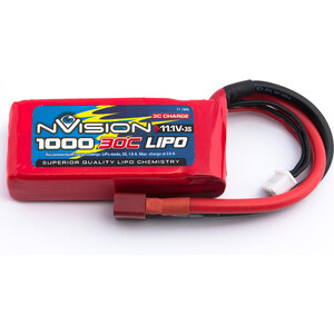 Аккумулятор nVision Li-Po 11.1В 3S 30C 1000мАч 1pcs lion power 2s 7 4v 5200mah 30c lipo battery pack for rc car buggy monster truck backup li po battery