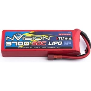 Аккумулятор nVision Li-Po 11.1В 3S 30C 3700мАч 1pcs lion power 2s 7 4v 5200mah 30c lipo battery pack for rc car buggy monster truck backup li po battery