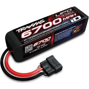 Аккумулятор TRAXXAS 6700мАч 14.8В 4 Cell 25C Li-Po Battery (iD Plug) hrb lipo 3s battery 11 1v 5200mah 35c max 70c for helicopters rc bateria drone akku airplane for quadcopter traxxas car uav fpv