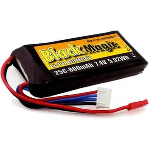 Аккумулятор Black Magic Li-Po 7.4В 2S 25C 800мАч 2017 new rechargeable zop power 7 4v 800mah 2s 25c lipo battery jst plug for rc toys models helicopter quadcopter