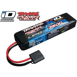 Аккумулятор TRAXXAS 7600мАч 7.4В 2 Cell 25C Li-Po Battery (iD Plug) hrb lipo 3s battery 11 1v 5200mah 35c max 70c for helicopters rc bateria drone akku airplane for quadcopter traxxas car uav fpv