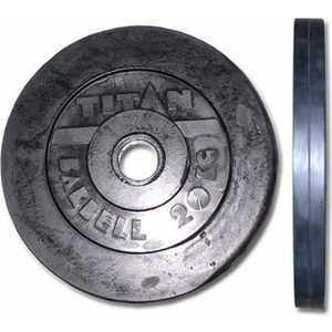 Диск обрезиненный Titan 51 мм 20 кг черный цены онлайн