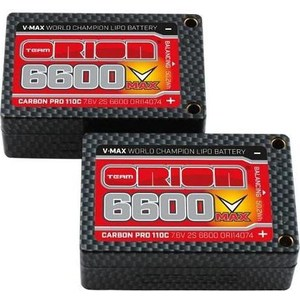 Аккумулятор Team Orion Batteries Carbon Pro V Max Li-Po 6600 110C 7.4В 2S Saddle Pack Tubes