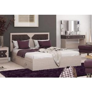 Кровать ЭРА Николь 140x200 ясень шимо-лиственница темная