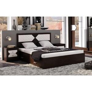 Кровать ЭРА Николь 160x200 дуб венге, лиственница светлая
