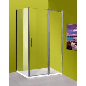 Боковая стенка Olive'S Zargoza FP 90 для двери HD, профиль Silver глянцевый, стекло прозрачное 5 мм (GRANFP-100-01C)