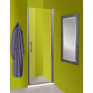 Душевая дверь Olive'S Zargoza D 80 реверсивная, профиль Silver глянцевый, стекло прозрачное 5 мм (ZARD-800-01C)