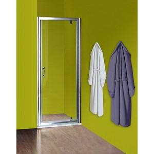 Душевая дверь Olive'S Granada D 80 реверсивная, профиль Silver глянцевый, стекло прозрачное 5 мм (GRAND-800-01C)