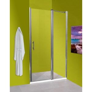 Душевая дверь Olive'S Zargoza HD 140 реверсивная с неподвижной секцией, профиль Silver глянцевый, стекло прозрачное 5 мм (ZARHD-140-01C)