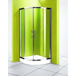 Душевой уголок Olive'S Granada R 90х90 профиль Silver глянцевый, стекло Brizzard рифленое 5 мм (GRANR-900-03C)