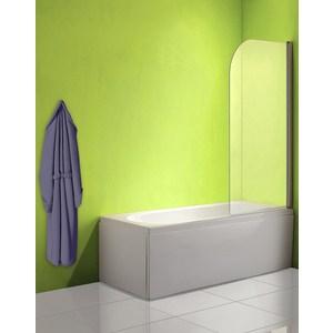 Фотография товара шторка на ванну Olive'S Toledo 1 80 правая профиль Silver глянцевый, стекло матовое (TOL1R-800-02C) (737065)