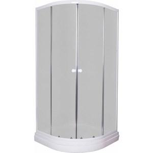 Фотография товара душевой уголок Pegas Классика 100х100 см, профиль белый, стекло матовое, с низким поддоном (Р-100Н) (737094)