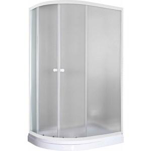 Душевой уголок Pegas Классика 120х80 (правая) см, профиль белый, стекло матовое, с низким поддоном (Р-120Н R)
