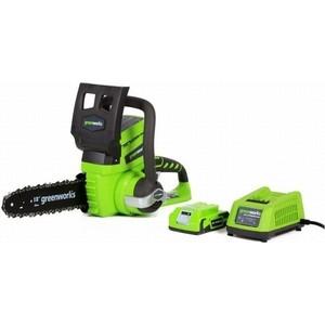 Электропила аккумуляторная GreenWorks G24CS25K2 (2000007va) электропила аккумуляторная greenworks gd40cs40 0