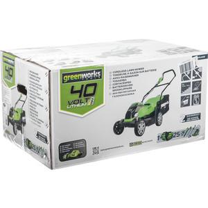 Газонокосилка аккумуляторная GreenWorks G40LM35K2 (2501907UA) аккумуляторная воздуходувка greenworks 24v g24ab без аккумулятора и зарядного устройства