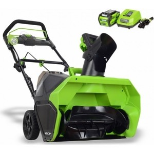 Снегоуборщик аккумуляторный GreenWorks GD40STK4 аккумуляторный снегоуборщик greenworks 80v g80ss30k2 2 0ah x1 2600707ua