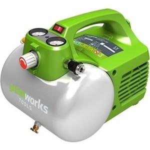 Компрессор безмасляный GreenWorks GAC6L безмасляный компрессор elitech кпб 190 6 он