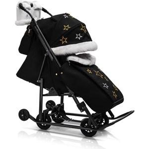 Детские санки-коляска Kristy СО Pikate-SM Limited Edition (черный) (1373331/1373317)
