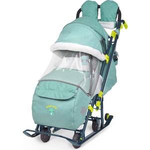 Детские санки-коляска Ника Детям 7-3 (зеленый джинс) (1373468/1373462)