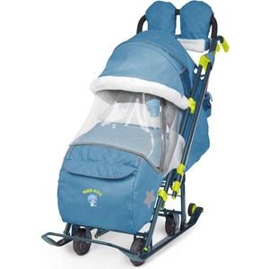 Детские санки-коляска Ника Детям 7-3 (синий джинс) (1373465/1373462)